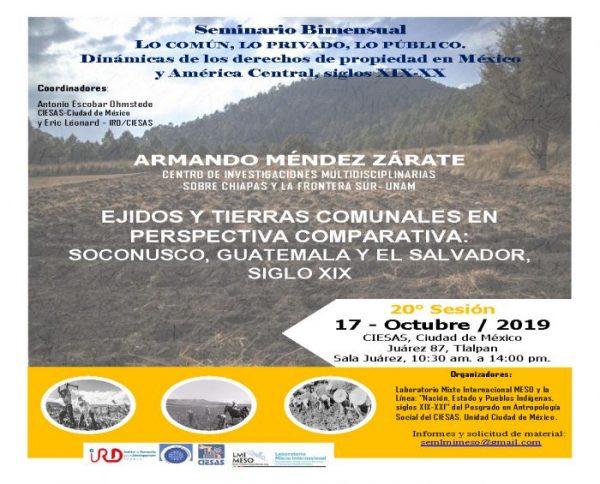 Seminario Bimensual @ CIESAS Juárez 87, sala Juárez